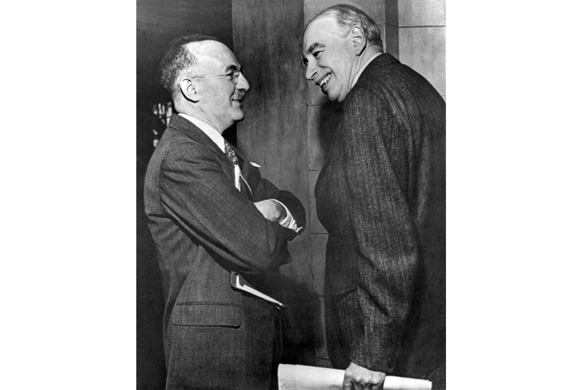 Figure 2: Negotiations between the United States and the United Kingdom at Bretton Woods (Harry Dexter White and John Maynard Keynes)